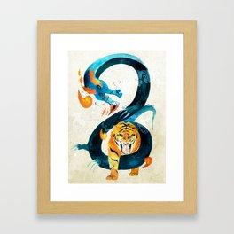 Dragon & Tiger Framed Art Print