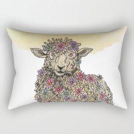 Flower Sheep Rectangular Pillow
