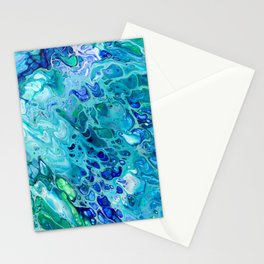 Turquoise seascape Stationery Cards