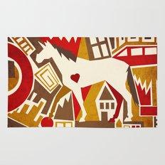 Abstract Pattern Unicorn Rug