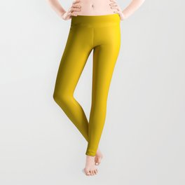 Solid Sunshine Yellow Color of the Year  Leggings
