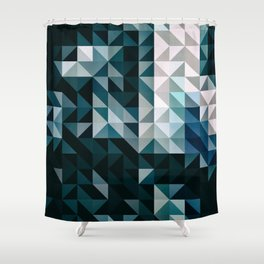 :: geometric maze XV :: Shower Curtain