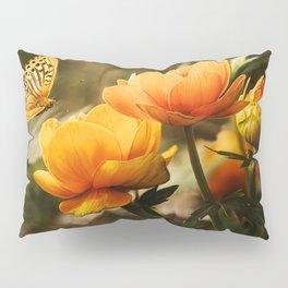 Butterfly on Flower Pillow Sham