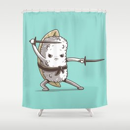 Samurai sushi - Eel Shower Curtain