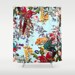 Floral and Birds XXXIV Shower Curtain