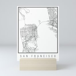 San Francisco California Street Map Mini Art Print