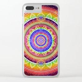 Cosmic Journey Mandala Clear iPhone Case