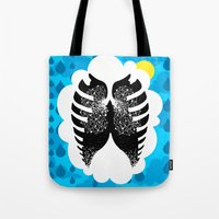 tfios Tote Bags featuring The Stars in Our Lungs - TFIOS by Betwixt