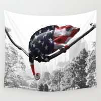 central park Wall Tapestries featuring Central Park, NY by DistinctyDesign