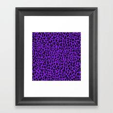 Neon Purple Leopard Framed Art Print