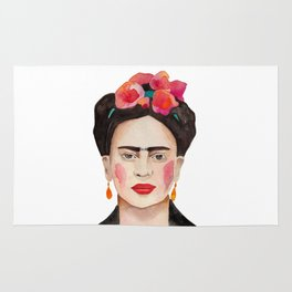 Watercolor Frida Kahlo Rug