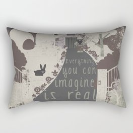 Everything you can imagine is real 11 Rectangular Pillow