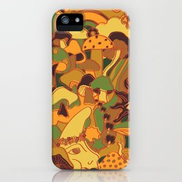 Magical Mushroom World in Earthy Ochre iPhone Case
