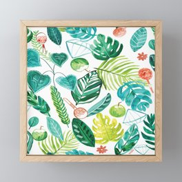 Tropical Monstera Maracas Framed Mini Art Print