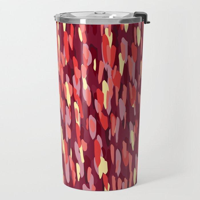 Small Dot Red Travel Mug