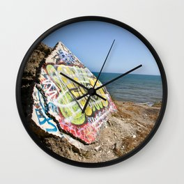 Sunken City Graffiti Wall Clock