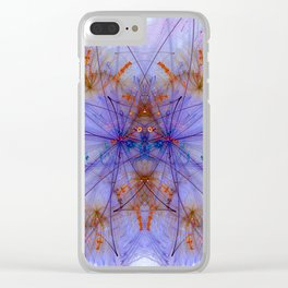 Smokey Violet Orange Rings Clear iPhone Case