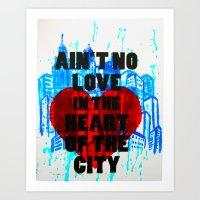 Heart of the City print Art Print