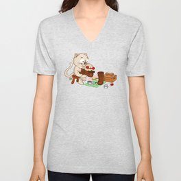 Puss in boots Unisex V-Neck