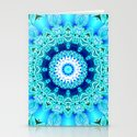 Blue Ice Glass Mandala, Abstract Aqua Lace by dianeclancy
