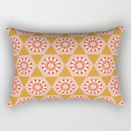 Kaleidoscope Retro Mustard Rectangular Pillow