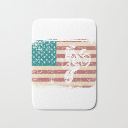 Cool American Flag  Motocross Tee For Riders Saying T-shirt Design Racing Biker Bike Moto Racing Bath Mat