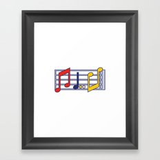 Pop Music Framed Art Print
