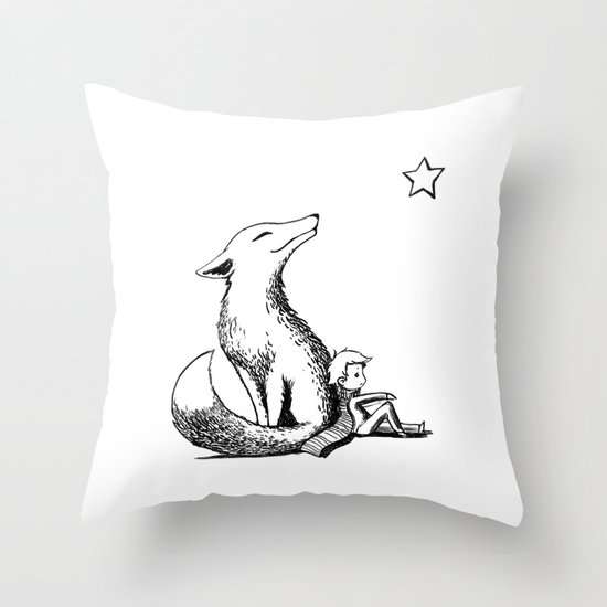 Prince and the Fox Throw Pillow