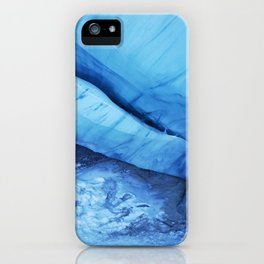 Blue ice of Blackcomb Glacier Ice Cave iPhone Case