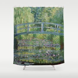 Claude Monet The Japanese Footbridge and the Waterlily Pool at Giverny 1899 Shower Curtain