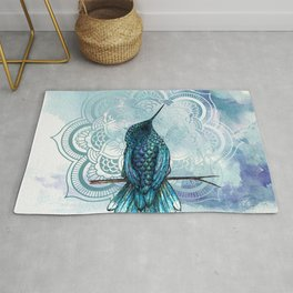 Aquarela hummingbird Rug