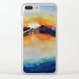 Saving Sunset Clear iPhone Case