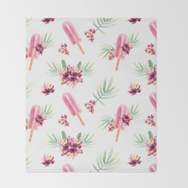 Tropical Chill Throw Blanket