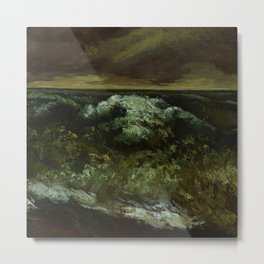"Gustave Courbet ""The Wave 1869 Lyon"" Metal Print"