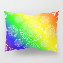 Rainbow Love Symbol Mandala Pillow Sham