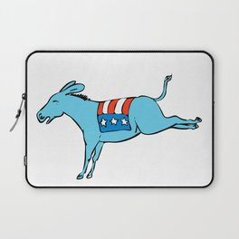 American Donkey Kicking Color Drawing Laptop Sleeve