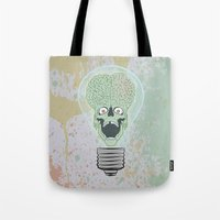 toddler Tote Bags featuring Think Martian  by Geekleetist