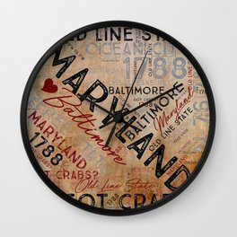 MD to the Maryland Wall Clock