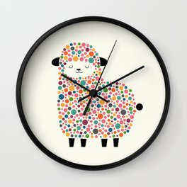 Bubble Sheep Wall Clock