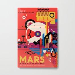 NASA Retro Space Travel Poster #9 Mars Metal Print