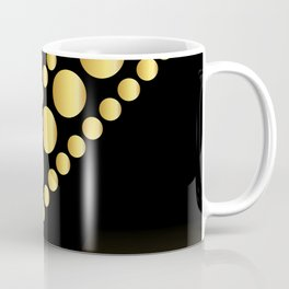 Golden dotes on black background #society6 #decor #buyart #artprint Coffee Mug
