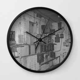 Decay - boxes Wall Clock