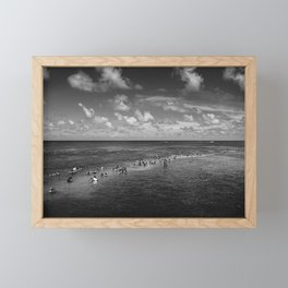 People at the middle of sea, João Pessoa - Brasil Framed Mini Art Print