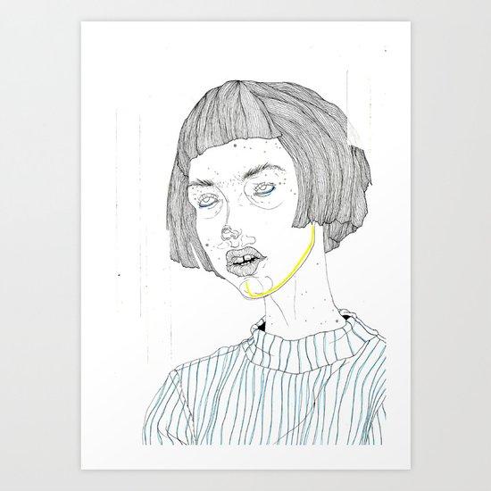 DoodleGirl Three Art Print