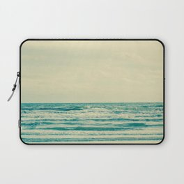 Natural tropical sea and beach with windy wave in Thailand Laptop Sleeve