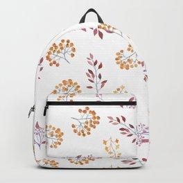 Watercolor orange brown botanical autumn floral Backpack
