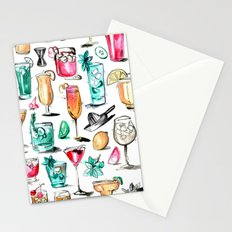 Summer Cocktail Pattern - Original Colors Stationery Cards
