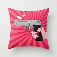 comics gun  Throw Pillow