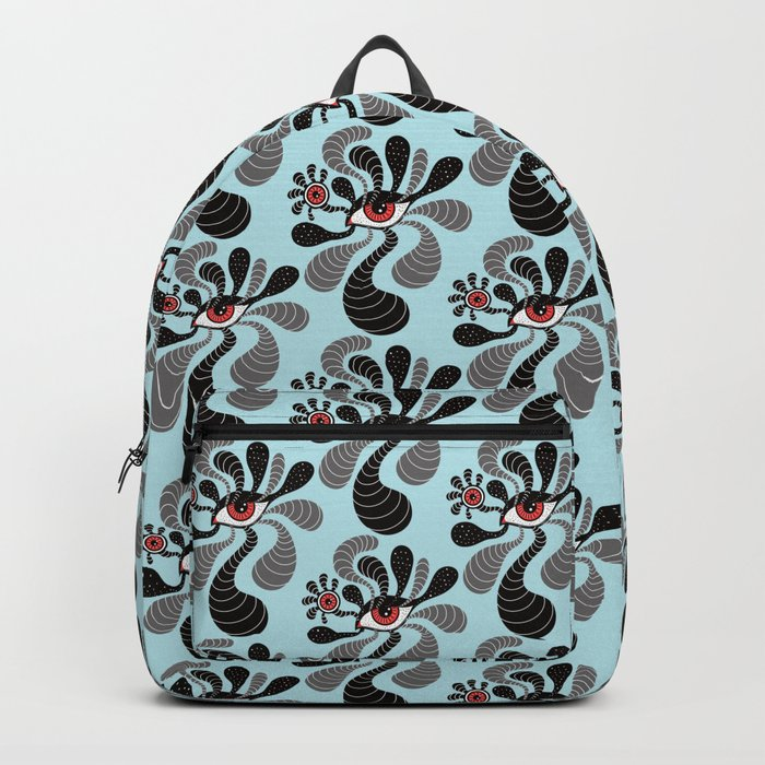 Abstract Surreal Double Red Eye Backpack