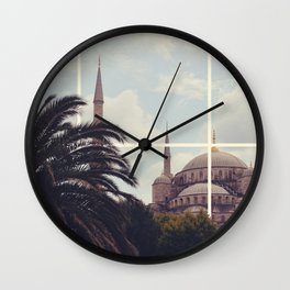 Istanbul Blue Mosque Wall Clock